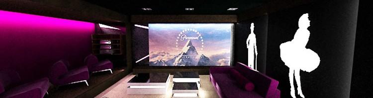 projekty wnętrz sala kinowa