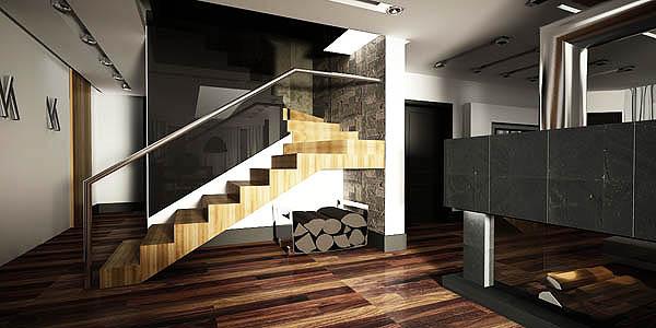 projekt wnętrza domu-schody
