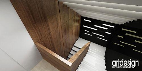 aranżacja wnętrza klatki schodowej