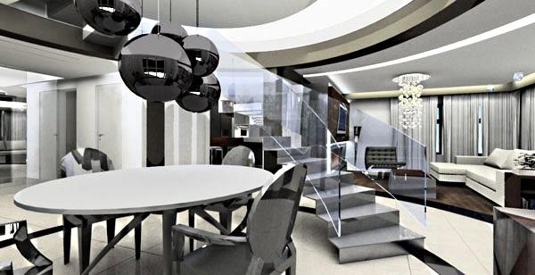 projektowanie wnętrz salonu