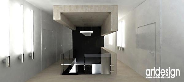 projekty wnętrz holu z klatką schodową