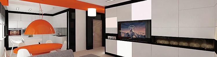luksusowe wnętrza mieszkania- salon