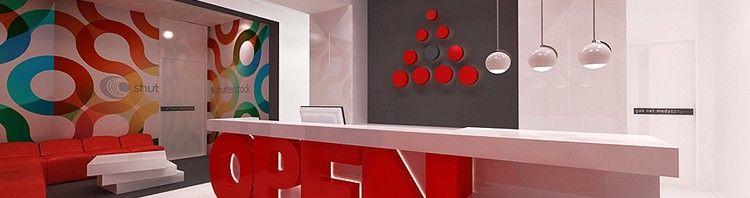 projektanci wnętrz medycznych- recpecja w klinice