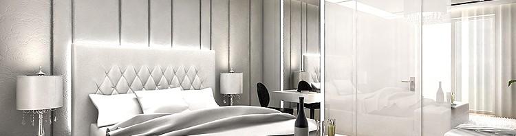 projekt wnętrza luksusowej sypialni
