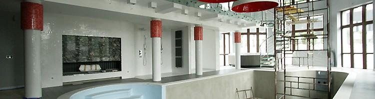aranżacja wnętrza basenu przy rezydencji