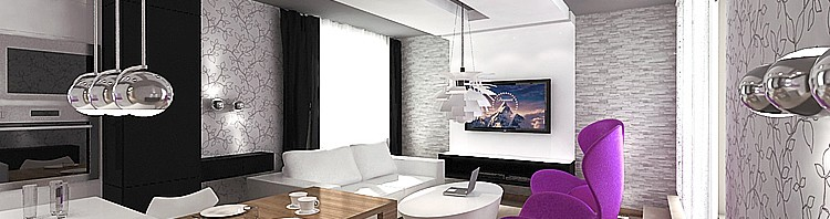 projekt wnętrz nowoczesnego mieszkania