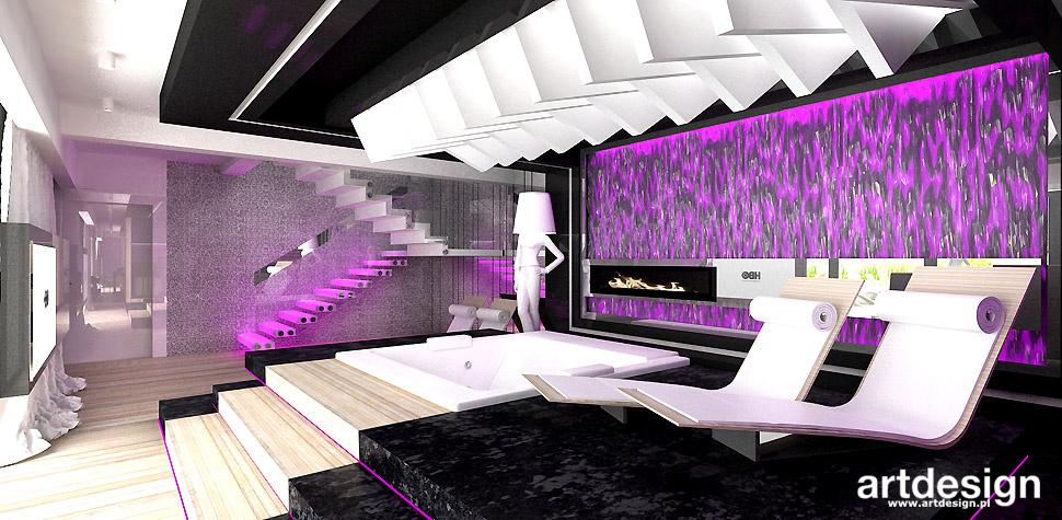 projektowanie wnętrz domowe spa