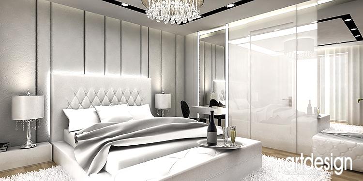 projekt luksusowego wnętrza sypialni
