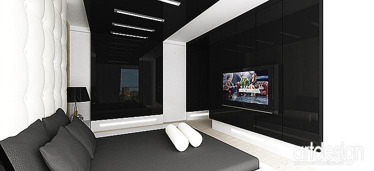 projektowanie wnętrza nowoczesnego domu - sypialnia