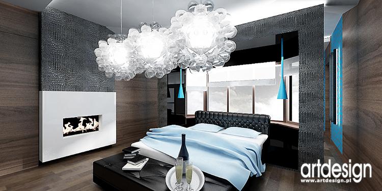 luksusowy projekt wnętrza sypialni