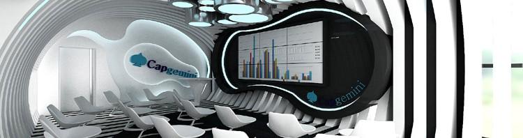 designerskie wnętrze innovation room capgemieni