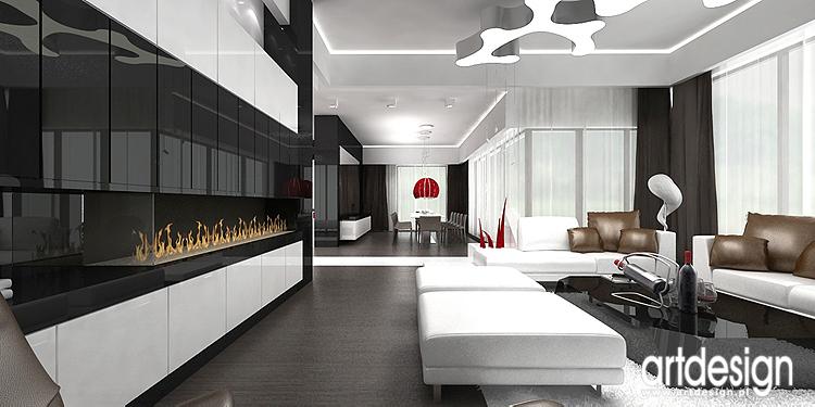 Projekt wn trza domu krak w rozwini cie koncepcji for 560 salon grand junction