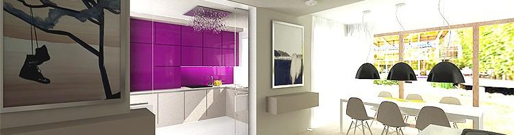 luksusowe wnętrze domu- kuchnia i jadalnia