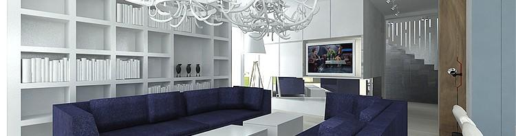luksusowe wnętrze domu- salon w bieli