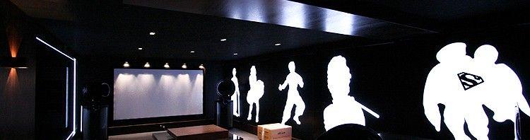 designerskie wnętrze kina domowego