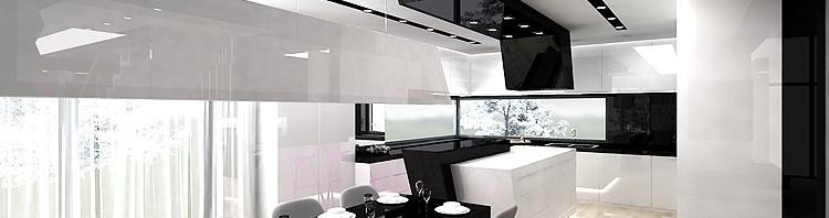 luksusowe wnętrze kuchni i jadalni