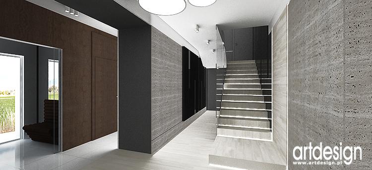 hol w nowoczesnym domu - projekt wnętrza