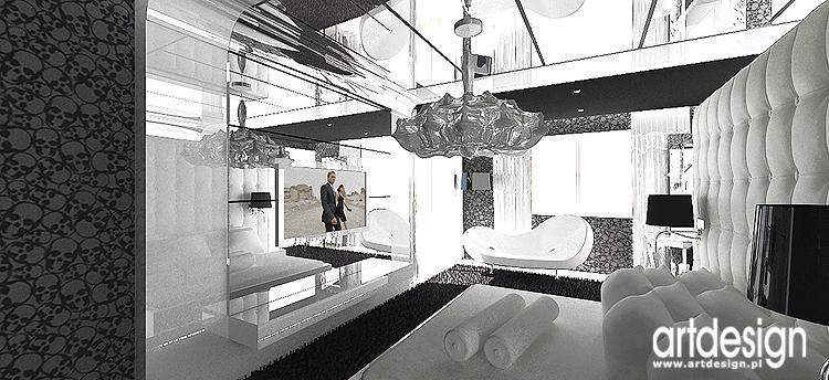 Sypialnia łazienka Projekt Wnętrza Nowoczesnej Rezydencji
