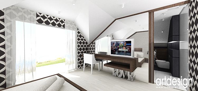 projekty wnętrza sypialni