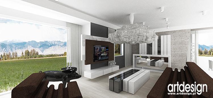wnętrza salonu - nowoczesne projekty wnętrz