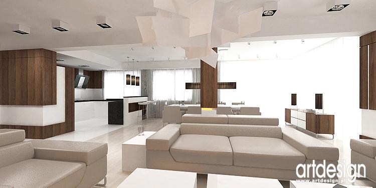 luksusowe wnętrze salonu - projekt
