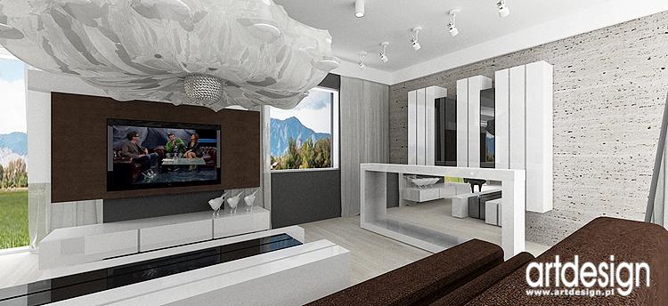 nowoczesne wnętrza salonu