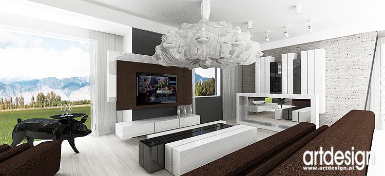 projektowanie wnętrza domu - salon