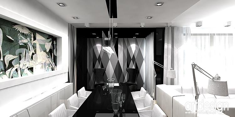 designerskie wnętrze jadalni