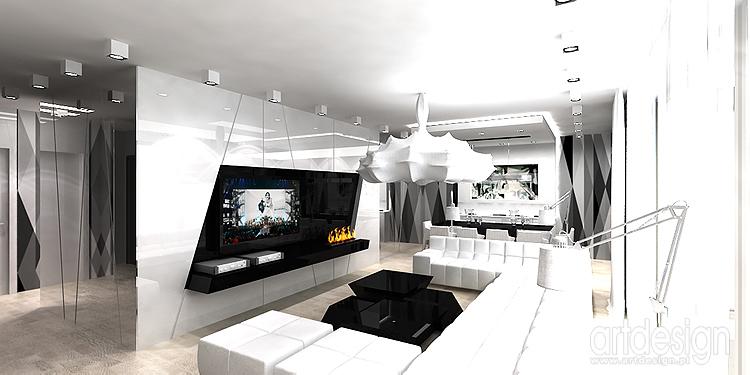 wnętrza black&white - aranżacja apartamentu
