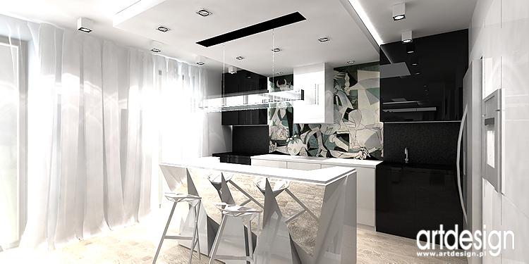 kuchnia z wyspą - projektowanie wnętrz nowoczesnego mieszkania