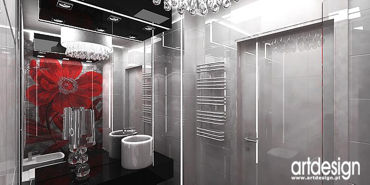 designerskie wnętrze łazienki z mozaiką