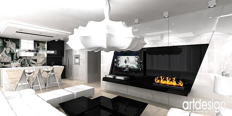 designerskie wnętrze salonu