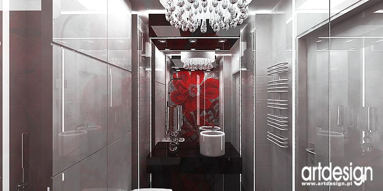 luksusowe wnętrze łazienki w mieszkaniu - aranżacja wnętrz