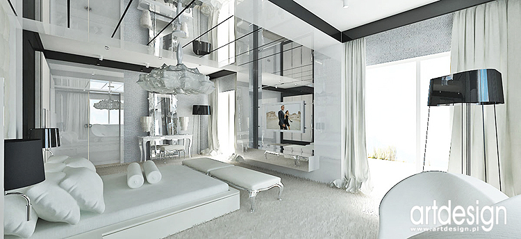Projekt Wnętrz Nowoczesnej Sypialni Glamour Architekt Design