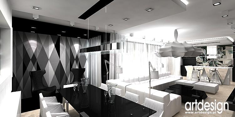 projekt minimalistycznego wnętrza jadalni