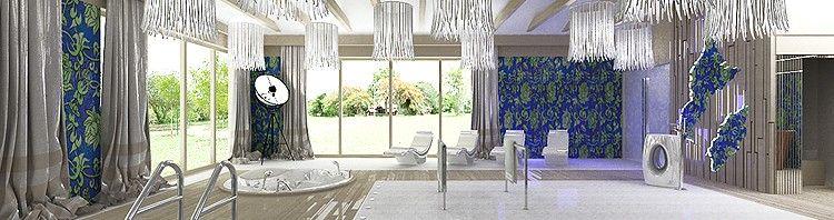 projektowanie wnętrza luksusowego basenu