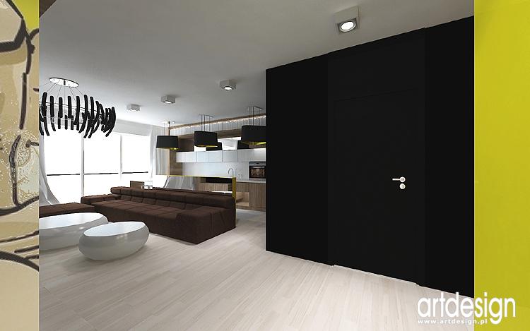 nowoczesne projekty wnętrz apartamentu