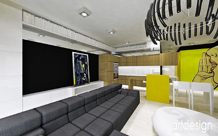 projekty nowoczesnego apartamentu