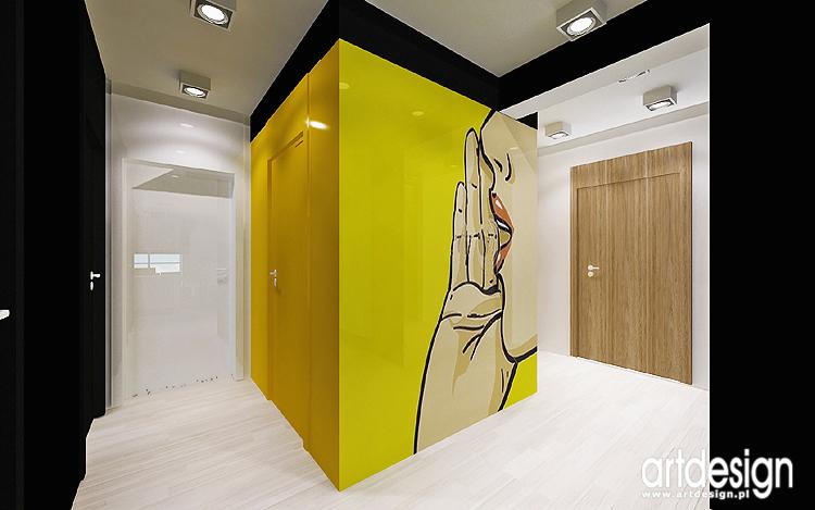 designerski projekt wnętrza mieszkania - hol