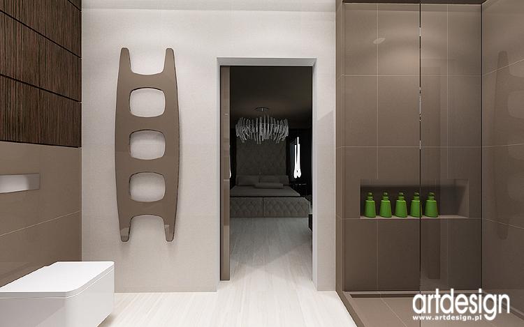 aranżacja wnętrza łazienki przy sypialni