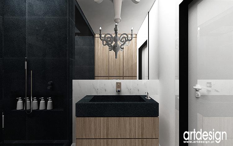 drewno w łazience - nowoczesny projekt wnętrza