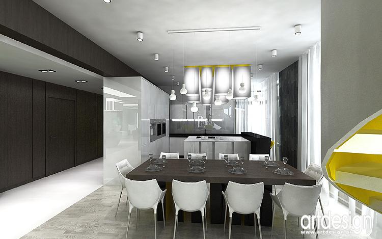 Luksusowe oryginalne wn trza dom w projekty aran acje for Projekty kuchni z salonem