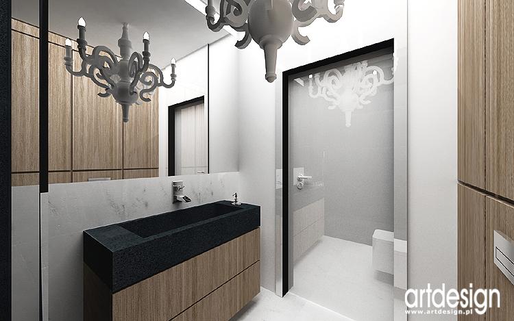 biel w łazience - designerskie projekty wnętrz