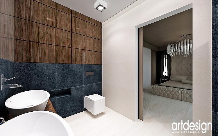 projektowanie wnętrz nowoczesnej sypialni z łazienką