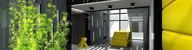 projekt wnętrza holu w rezydencji