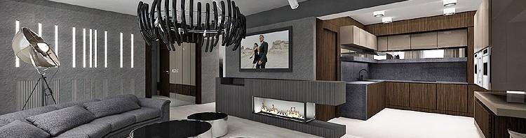 projekt wnętrza nowoczesnego domu -salon
