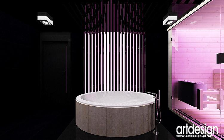 jacuzzi i sauna w salonie kąpielowym - nowoczesne aranżacje wnętrz