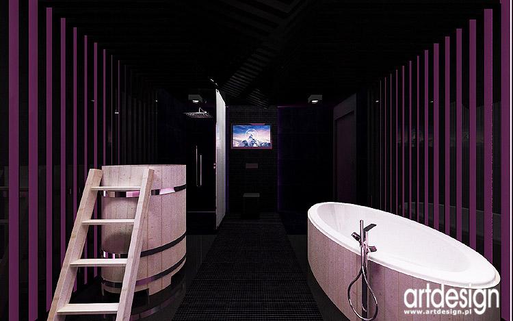 projektowanie wnętrza domowego spa