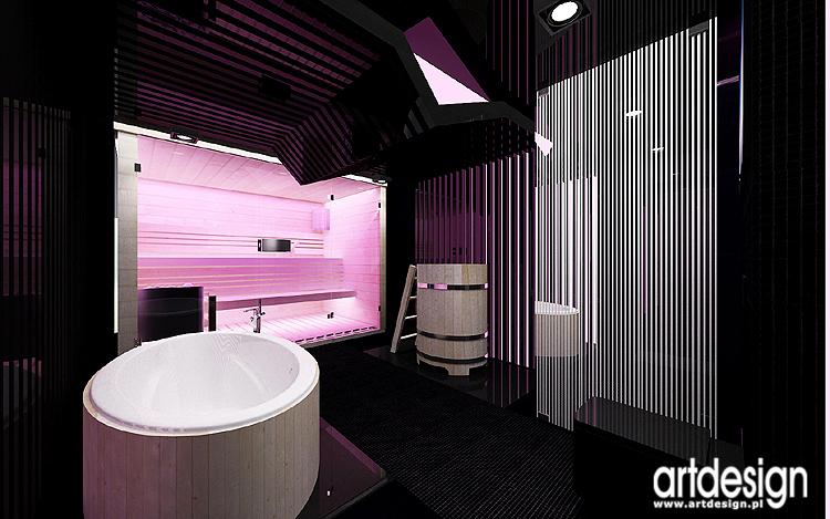 projekt salonu kąpielowego - sauna