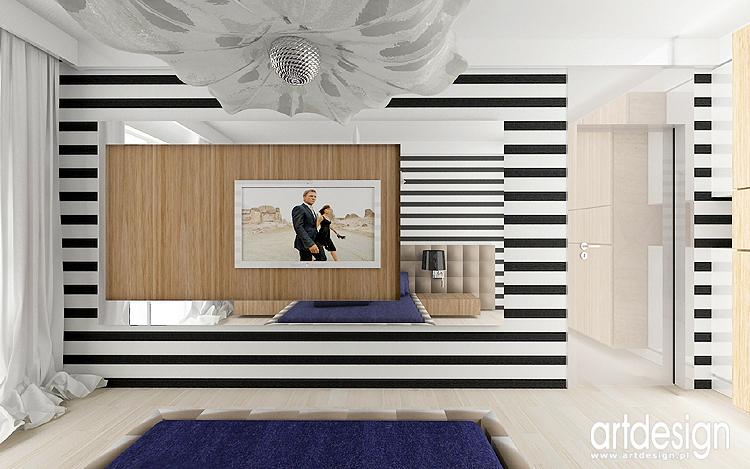 nowoczesny projekt wnętrz sypialni
